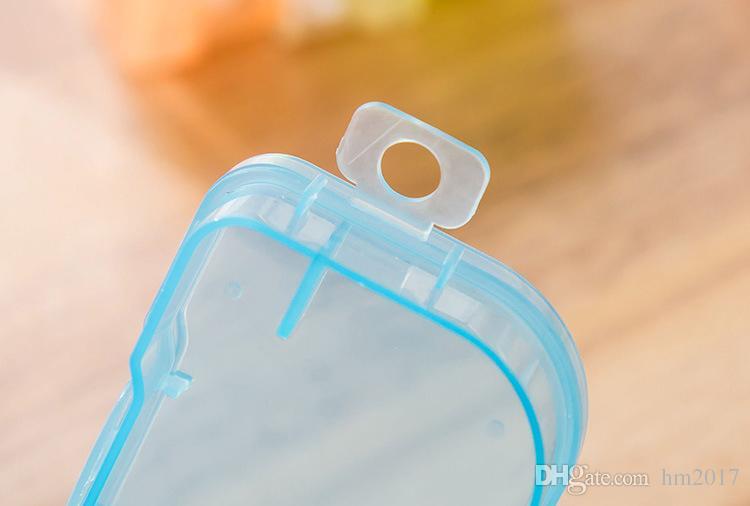 무작위 색깔 2017 유행 제일 투명 한 플라스틱 콘택트 렌즈 케이스 여행 킷 쉬운 콘테이너 홀더를 가지고 가십시오 뜨거운 판매