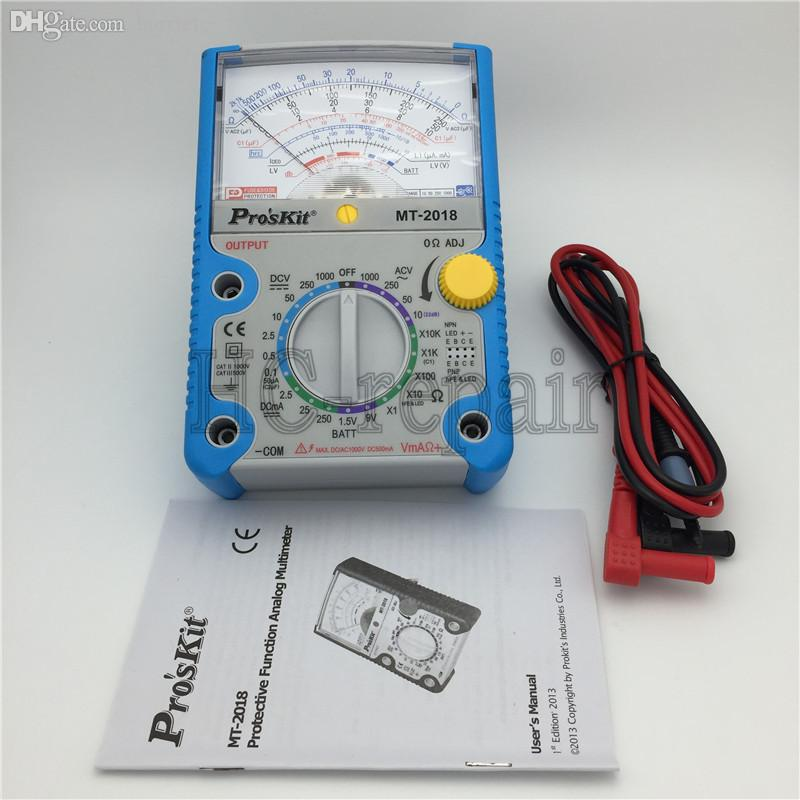 Wholesale-Free Shipping ProsKit MT-2018 Protective Function Analog  Multimeter Safety Standard Professional Ohm Test Meter Tester Analog