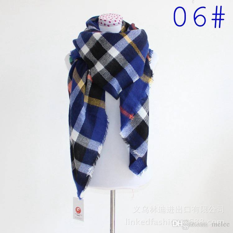 2016 женская мода плед шарф теплый мягкий зимний одеяло пашмины шарф негабаритных шотландки шарф женщины шаль шарф шарфы обертывания Рождество