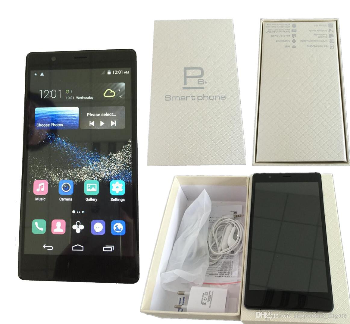 Huawei p8 plus phone Android 6.0 inch MTK6572 Dual core smartphone cell phones dual Sim 512 RAM 4GB ROM show 32GB Fake 4G LTE free DHL