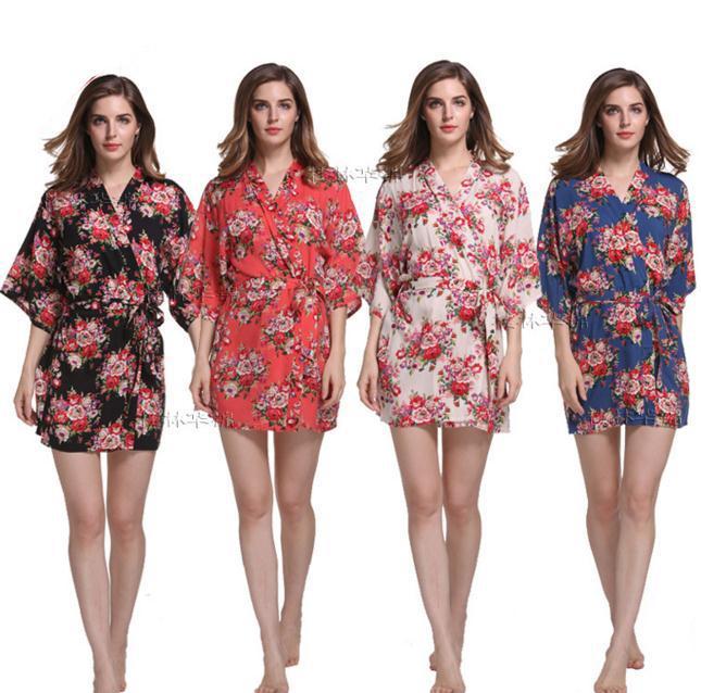 Online Cheap Wholesale New Print Floral Women Wedding Bridal Kimono ...