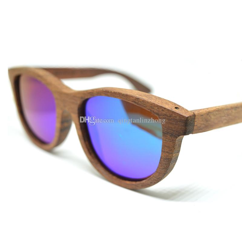 5145c0b0a50f9 Kn 013 Factory Sale 100% Real Bamboo Wood Wooden Sunglasses Custom Ship By  Dhl Ems Prescription Sunglasses Online Black Sunglasses From  Qingtanlinzhong
