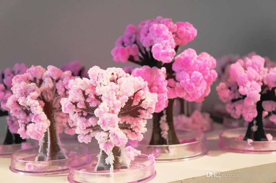Niños Juguetes para Armar uno mismo de Papel Flor Artificial árbol mágico Sakura escritorio flores de cerezo