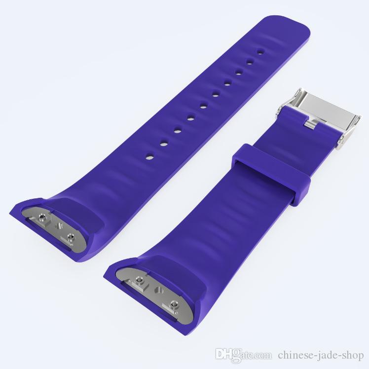 Наручные носимых силиконовые ремни группа для Samsung Galaxy Gear Fit 2 Fit2 R360 часы классические замена полосы 10 шт./л