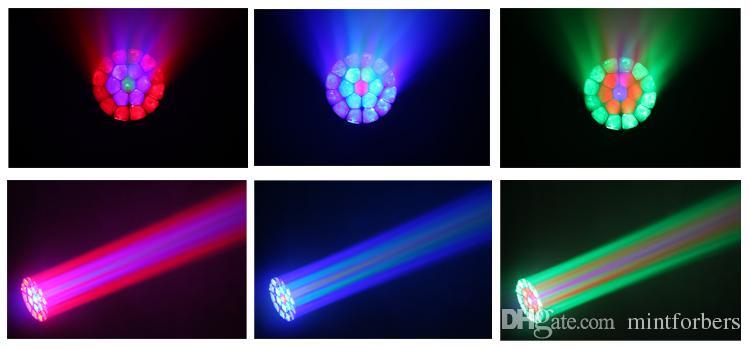 2 حزمة كبيرة العين الصمام نقل رئيس ضوء شعاع غسل تأثير الضوء 19 قطع 12 واط rgbw بقيادة مصباح dmx 21/96 قنوات المرحلة الإضاءة
