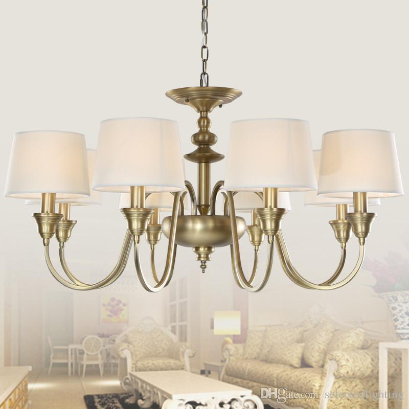 3 Lights Single Tier Chandelier Ceiling Antique Brass Chandeliers Lamp Shade Metal Lighting For Home Deco Contemporary Pendant Light Dining Room