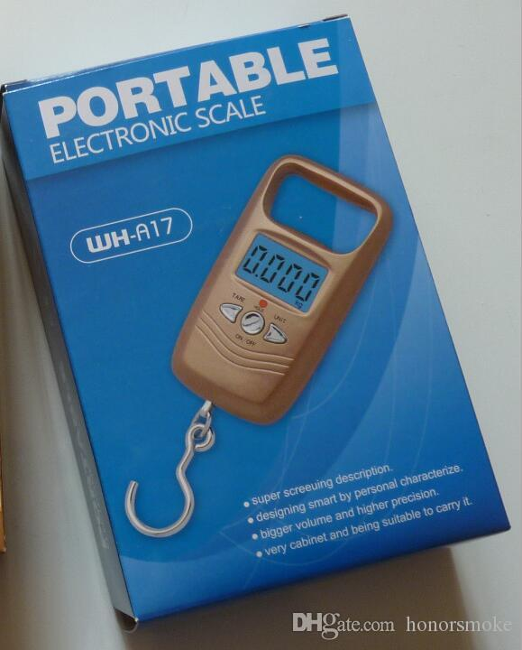 Plein air Portable 50kg / 10g LCD balance électronique crochet de pêche numérique pesant suspendu balance numérique avec boîte-cadeau
