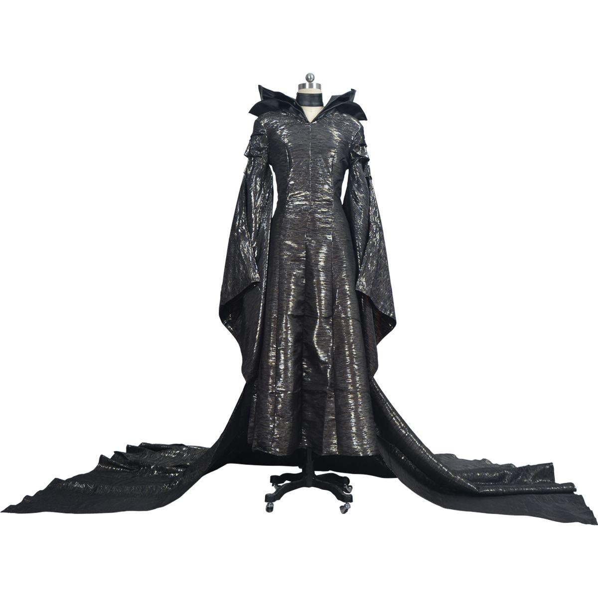 kukucos adult womens dress maleficent evil black queen latex