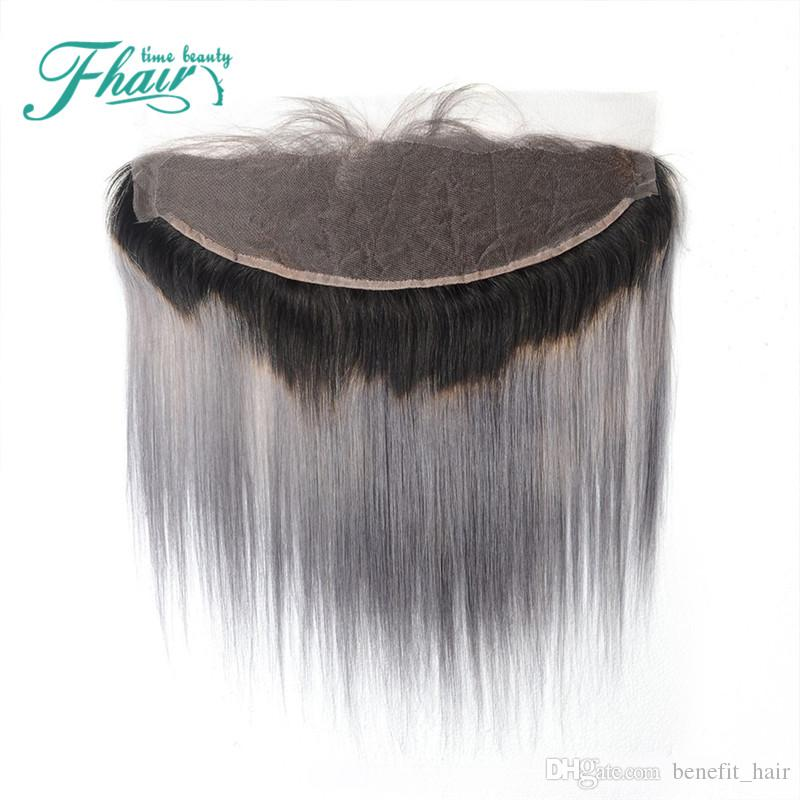 """Hot Sale 13""""*4"""" Swiss Lace Frontal Grey Lace Frontal Closures,Cheap Ombre Brazilian Hair With Baby Hair"""