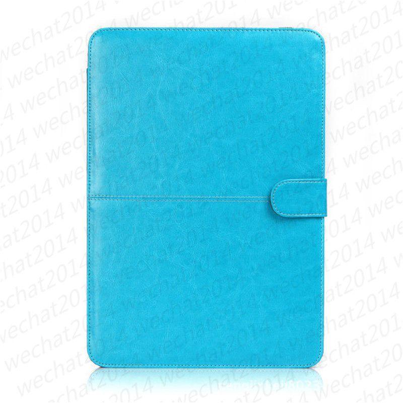 Etui portefeuille en cuir PU Housse antichoc livre pour Apple Macbook Air Pro 11 '' 12 '' 13
