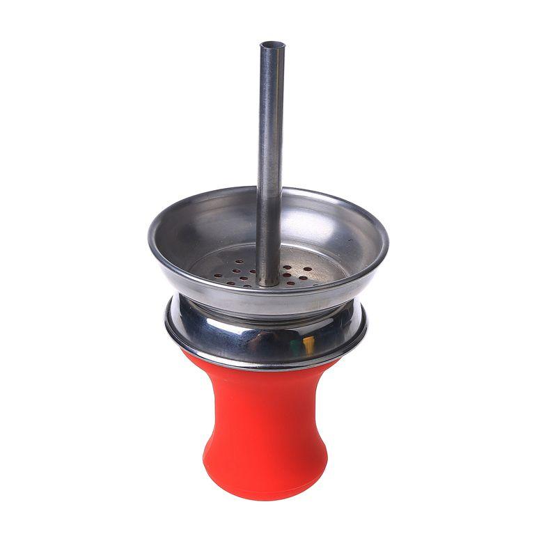 Soulton Glass Carbon Isolation Bowl Grail Shape Shisha Accessories Shisha Bowl Colorful Shisha Parts for Hookah DHL SHB-023