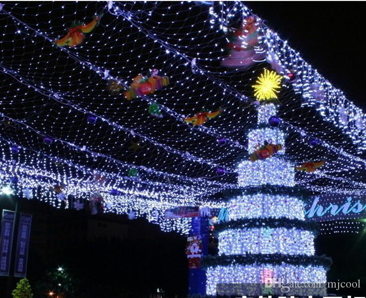 8 * 10 meters large LED net lights fishing nets outdoor waterproof led string lights full of stars decorated stars