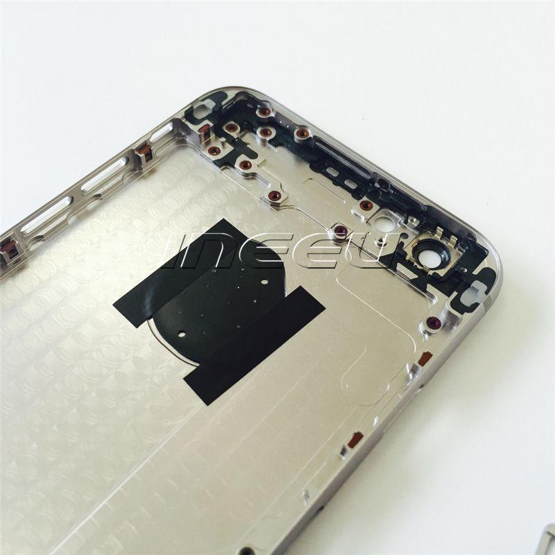4,7 polegadas de volta habitação capas para iphone 6 6plus melhor qualidade de liga de alumínio middle frame bateria porta substituição case para apple