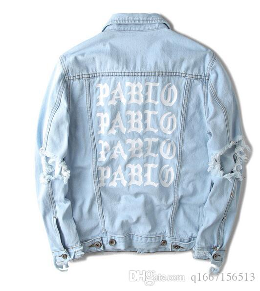 newest 93aee 972ae Cappotti oversize in giacca di jeans Pablo Kanye West Denim Giacche Uomo La  vita di Pablo kanye Jeans denim