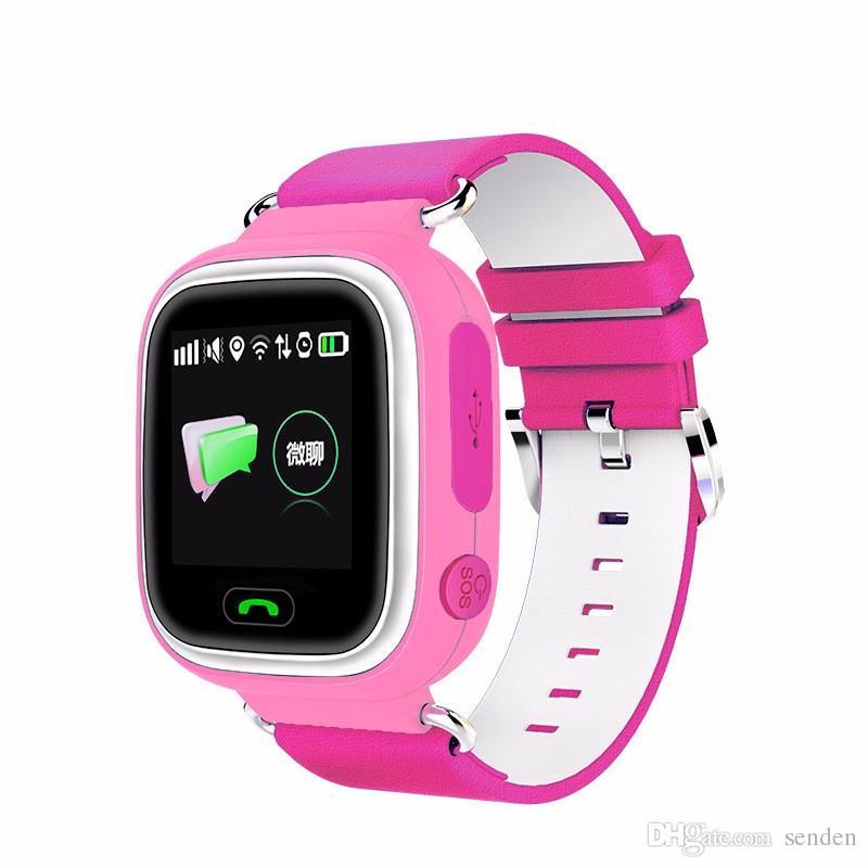heißer Verkauf Q90 Bluetooth GPS Tracking Smartwatch Touchscreen mit WiFi LBS für iPhone IOS Android SOS Anruf Anti verloren SmartPhone