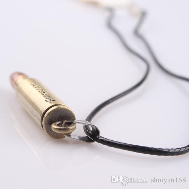 خمر سحر رجال مجوهرات رصاصة المعلقات القلائد سلاسل جلدية حبل الشرير الهدايا الإكسسوارات مجوهرات جديدة ل هدية عيد