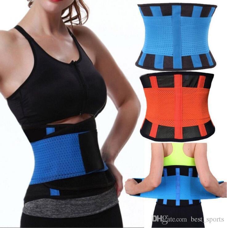 f90ae0671e 2019 Women S Fitness Waist Cincher Waist Trimmer Corset Ventilate  Adjustable Tummy Trimmer Trainer Belt Weight Loss Slimming Belt KKA2653  From Best sports