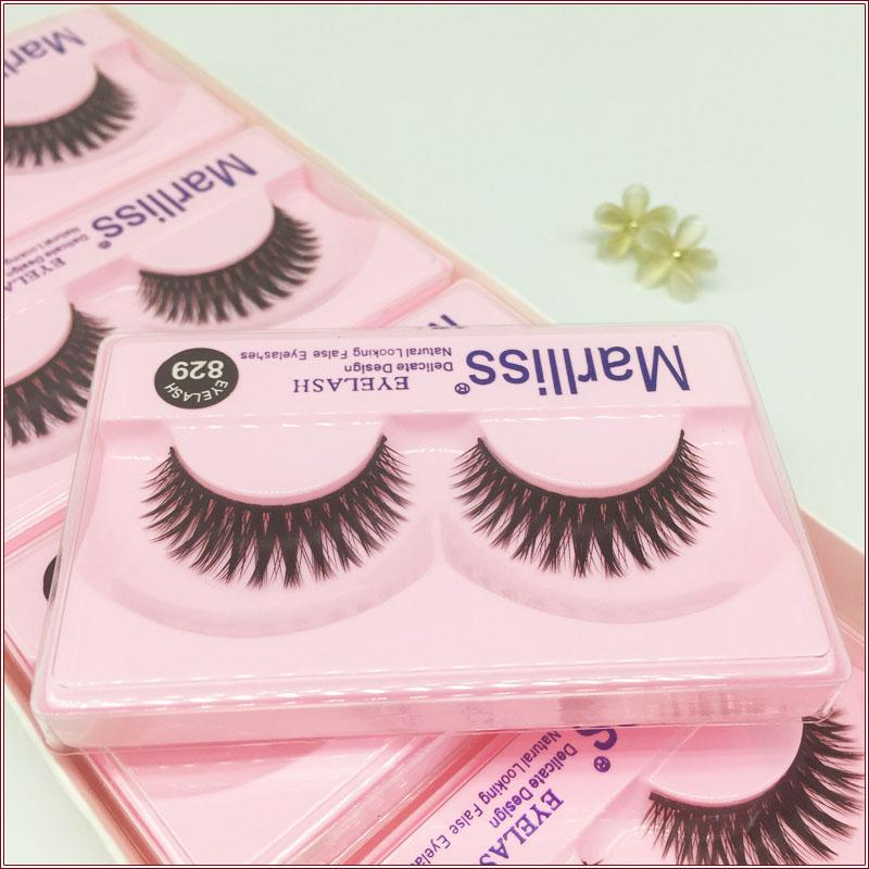 Natural thick false eyelashes 829# handmade eyelashes Smokey eye makeup lashes extension Cotton Stalk eyelash Short Thick Lashes