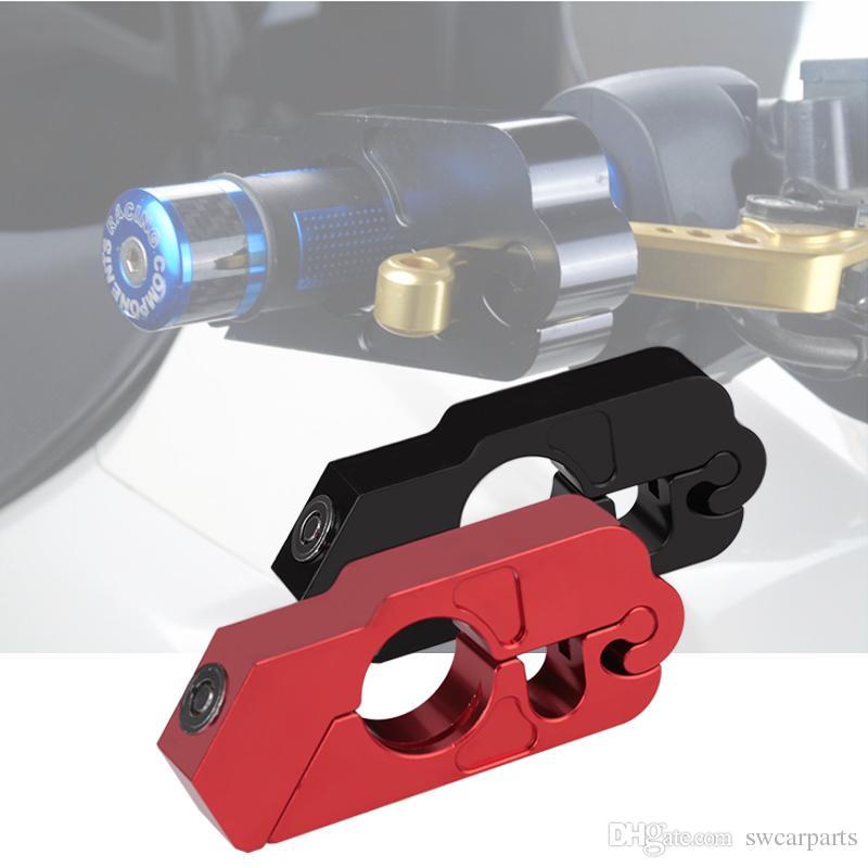 أسود دراجة نارية سكوتر المقود قبضة الفرامل ليفر قفل الألومنيوم التصنيع باستخدام الحاسب الآلي الفرامل دراجة نارية المقود قفل سكوتر ATV الفرامل الفاصل