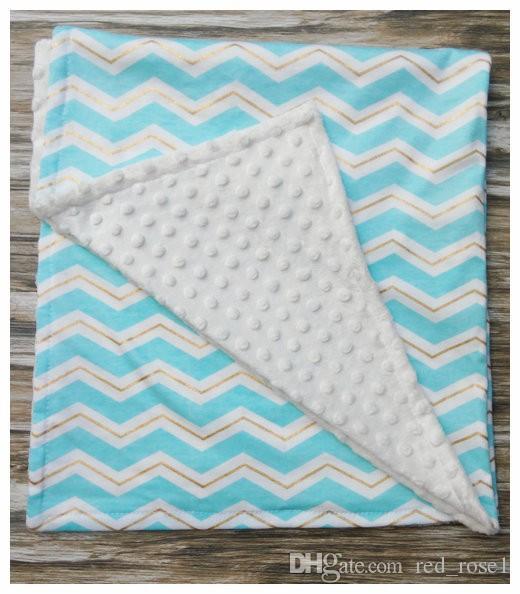 8 kleuren dot chevron katoenen swaddleme baby minky wrap swaddling deken pasgeboren baby swaddle handdoek beroemd multifunctioneel