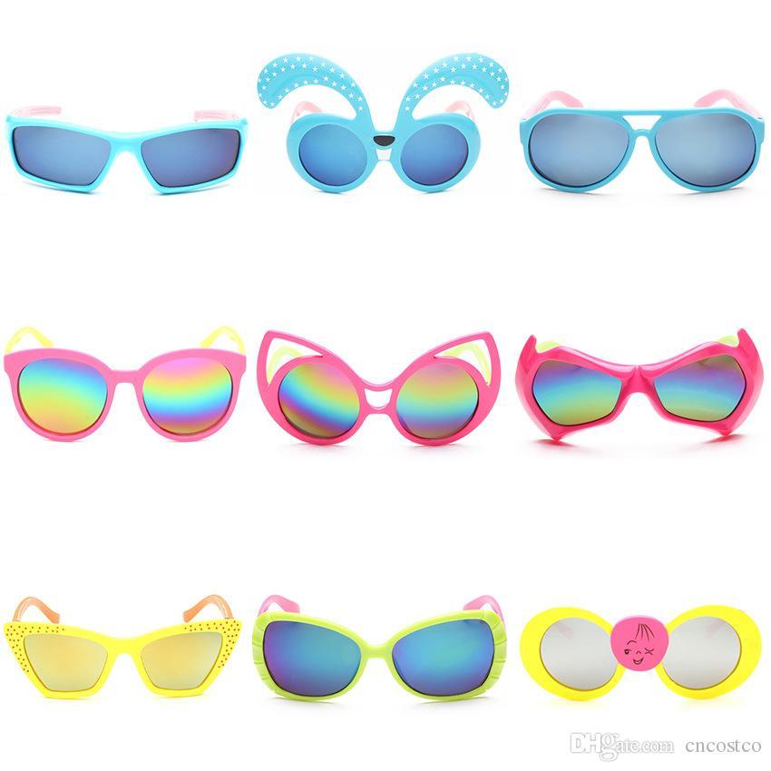 Compre Gafas De Sol Para Niños Pequeños Niños Marco Plástico De Las ...