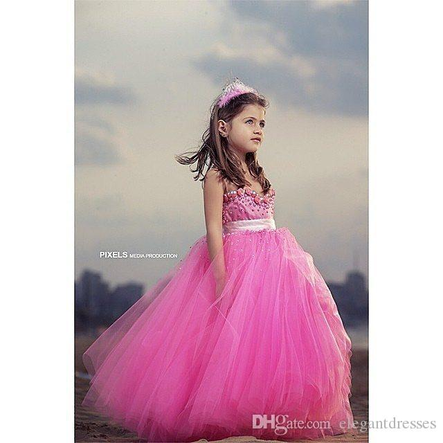 2016 cheap little beautiful cute baby girl pageant dresses