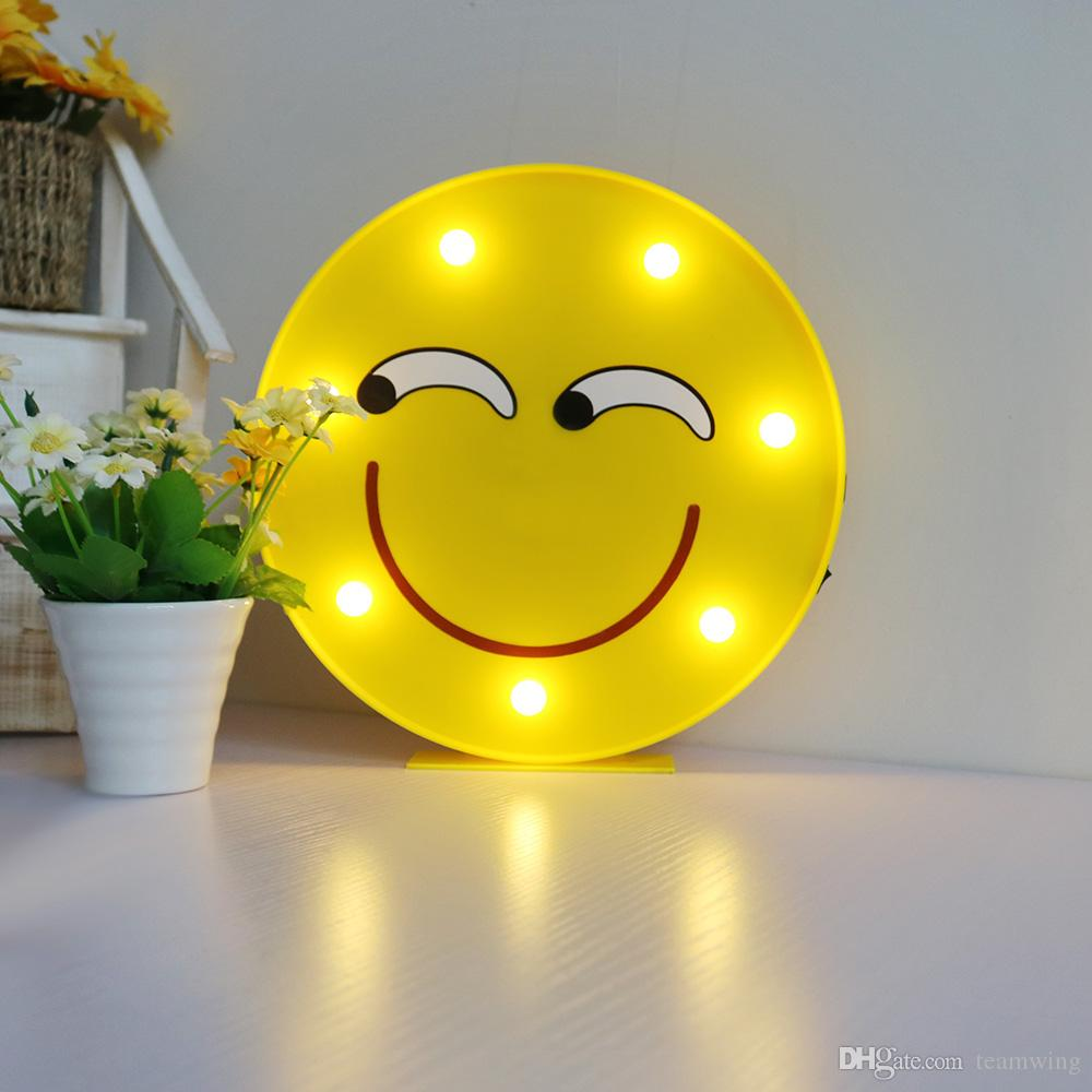 2018 Emoji Funny Led Table Lamps, Decorative Led Marquee Sign ...