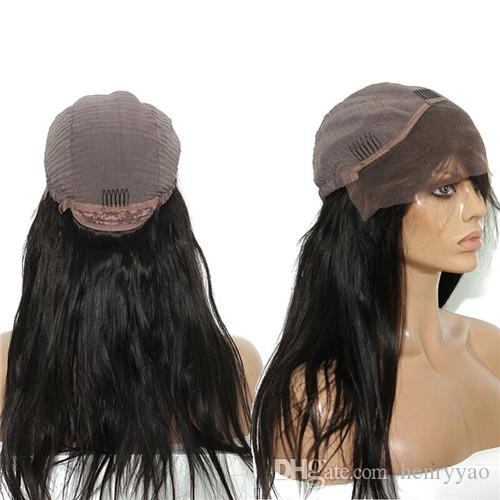 Long Synthetic Hair Wig Front Lace Wigs Straight Hair Black for Women Cheap Synthetic Lace Wigs