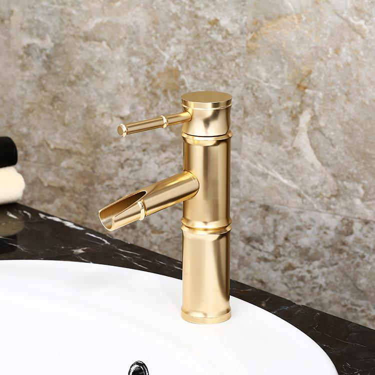 Magnificent Copper Basin Faucet Kitchen Bathroom Faucet Single Hole Of Cold Faucet Bamboo Faucet Bamboo Design Gold Black Faucet Bronze Red Faucet Download Free Architecture Designs Intelgarnamadebymaigaardcom
