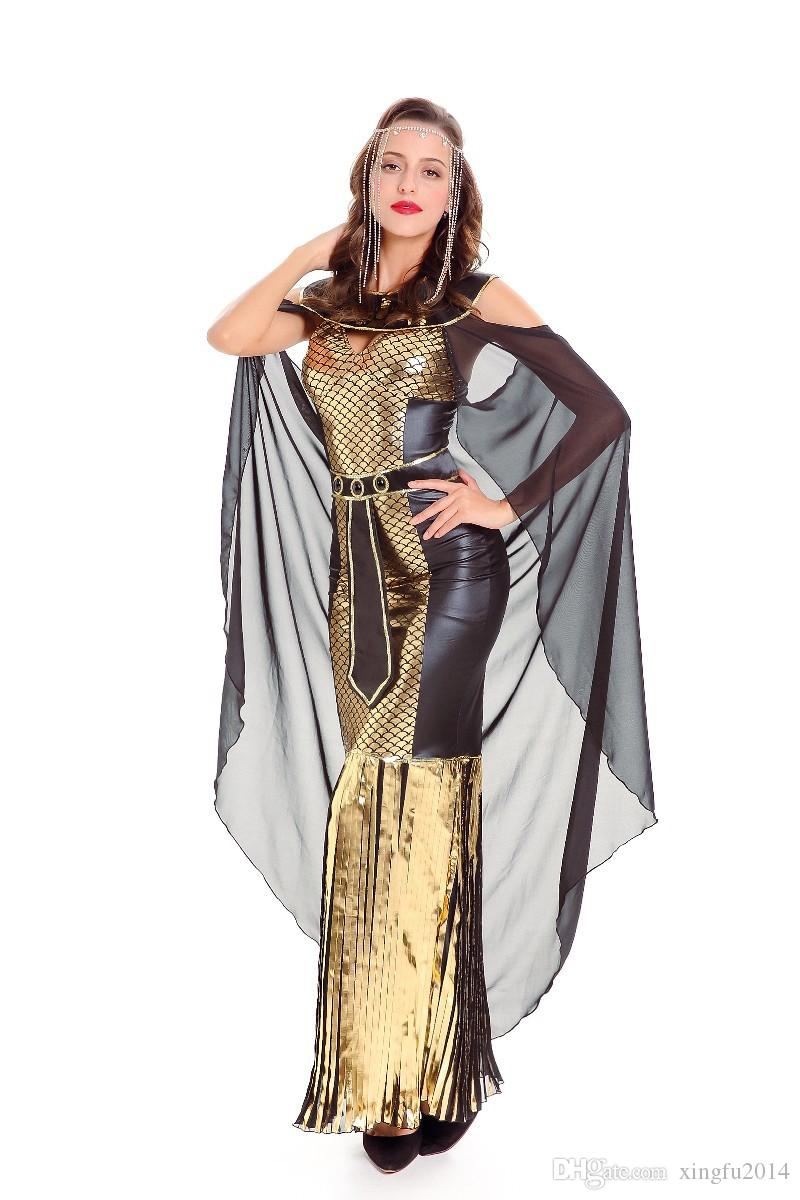 Ancient Egypt Egyptian Costumes Pharaoh Empress Cleopatra Queen Priest Halloween Cosplay Clothing for Womenu0027s Fancy Dress Cosplay Costumes Halloween Costume ...  sc 1 st  DHgate.com & Ancient Egypt Egyptian Costumes Pharaoh Empress Cleopatra Queen ...