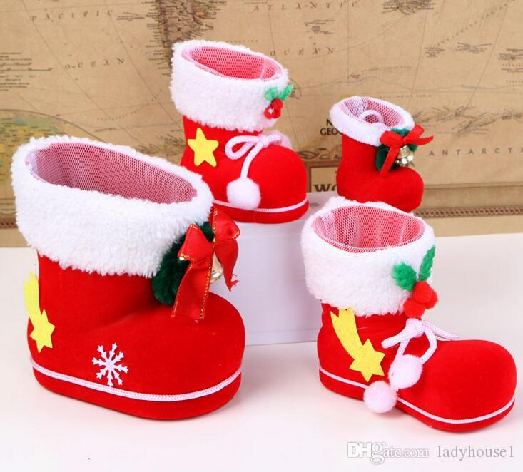 best christmas tree decoration hanging xmas bag christmas boots candy box for kids children party bags boys girls santa boot shoes stocking great christmas - Christmas Tree Bags