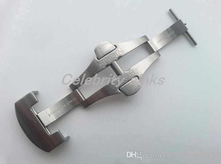 22mm Yeni Yüksek Kaliteli Paslanmaz çelik Scrub Dağıtım Katı Çift Kelebek Toka Watchband Bant Kayış toka Kullanım İçin Panerai Cilalı