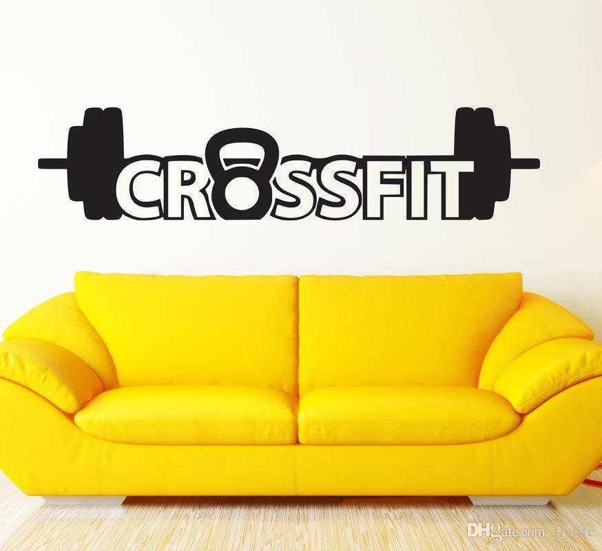 Sports Wall Decal Art Decor cross fit Sticker for Living Room Boys Room