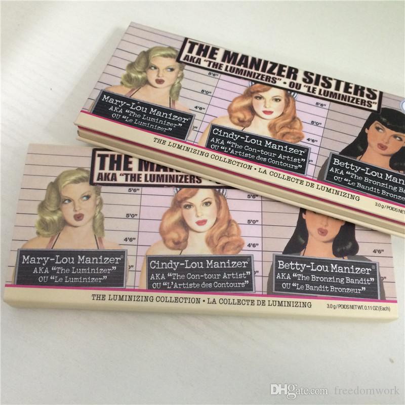 Yeni Gelenler Bayan Manizer Sisters Cindy-lou Mary-Lou Betty-Lou 3 renk Bronzlaştırıcılar İşaretleyiciler paleti ücretsiz kargo yüksek kalite