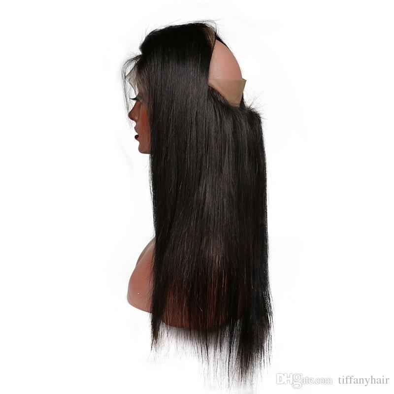 360 레이스 정면 예비 뽑아서 아기 머리 표백 매듭 스트레이트 레미 브라질 인간의 머리카락 스트레이트 무료 부분