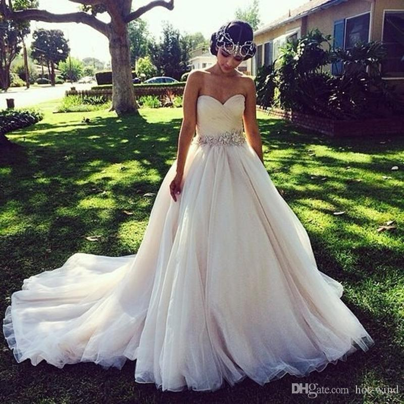 Discount princess ball gown wedding dresses with crystal belt discount princess ball gown wedding dresses with crystal belt ruched sweetheart v backless soft color country rustic bridal gowns couture customize dresses junglespirit Gallery