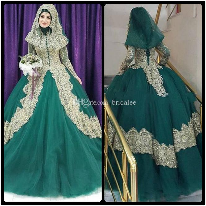 Cheap turkish wedding dresses free shipping turkish wedding ball gown reference images 2016 spring summer turkish islamic green wedding dress 2017 ball gown tulle junglespirit Image collections