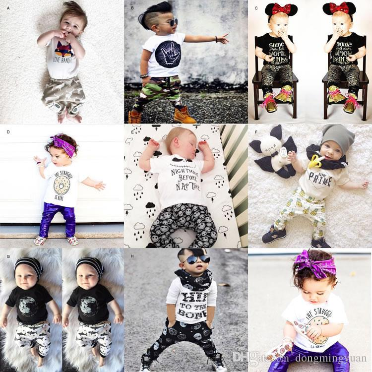 0d7fa23abfda Ins Newborn Boy Girl Print Set Clothing Top T Shirt+Pant Suit Toddler Kid  Casual Tracksuit Gift Baby Costume Christmas Halloween Infant Kid Set Clothing  Kid ...