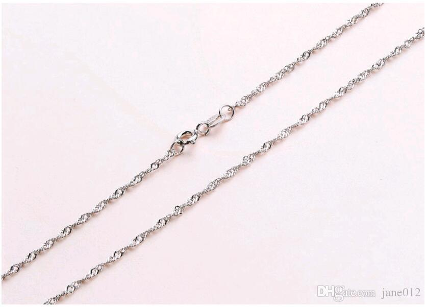 Solid 925 Sterling Silver Chain Necklace 1mm 18inch Snake Box Twisted Starry Neck Chain for Pendant Necklace Jewelry