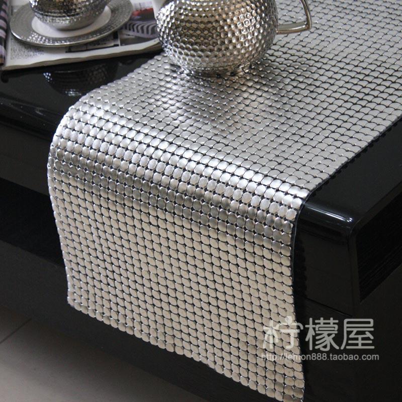 Luxury European Table Runner Silver 8mm Large Aluminum Sheet Metal Aluminum  Sheet Table Table Cloth Bag Mail Runner Model