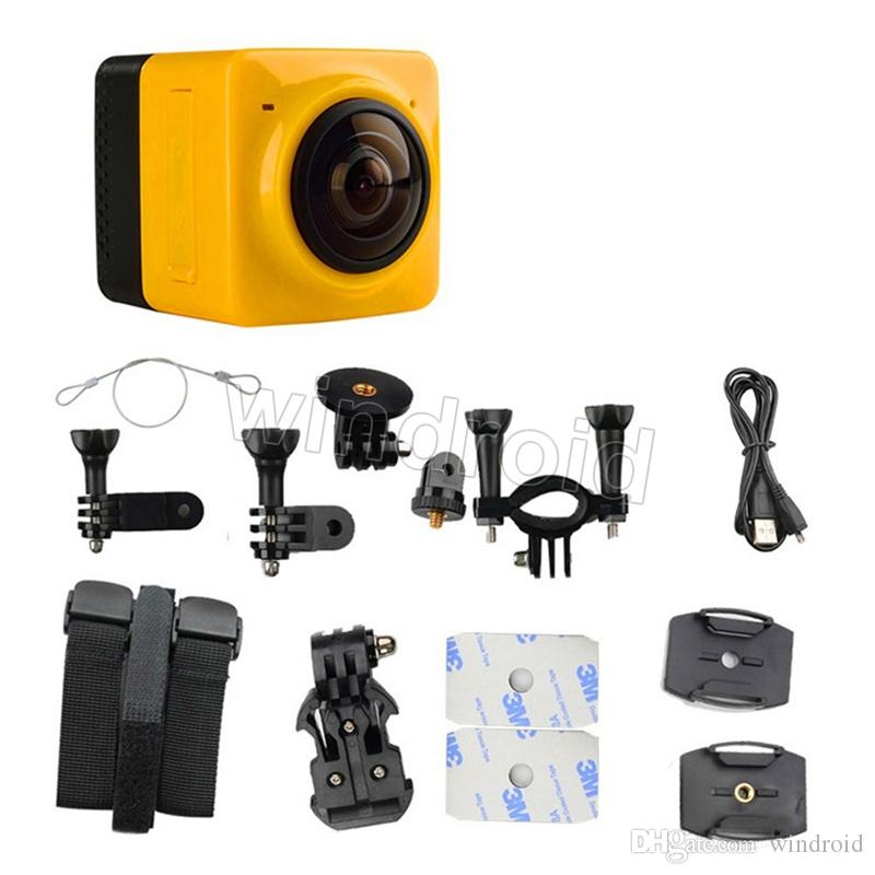 Panoramic CUBE 360 Mini Sports Action Camera 360° 190° VR Camera WiFi Camera H.264 1280*1042 Video Mini Camcorder colorful Free DHL