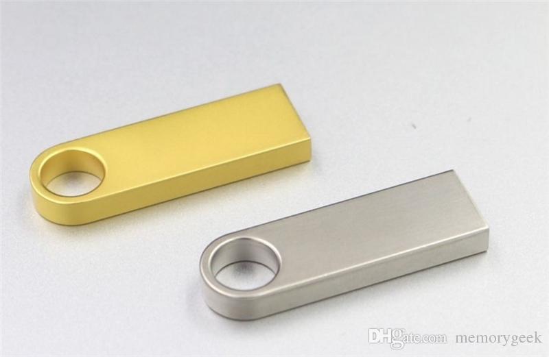 64 GB 128 GB 256GB USB 2.0 Flash Sürücü Memory Stick Kalem Gümüş Metal Memory Stick U Disk Döner USB Sticks iOS Android perakende perakende paket