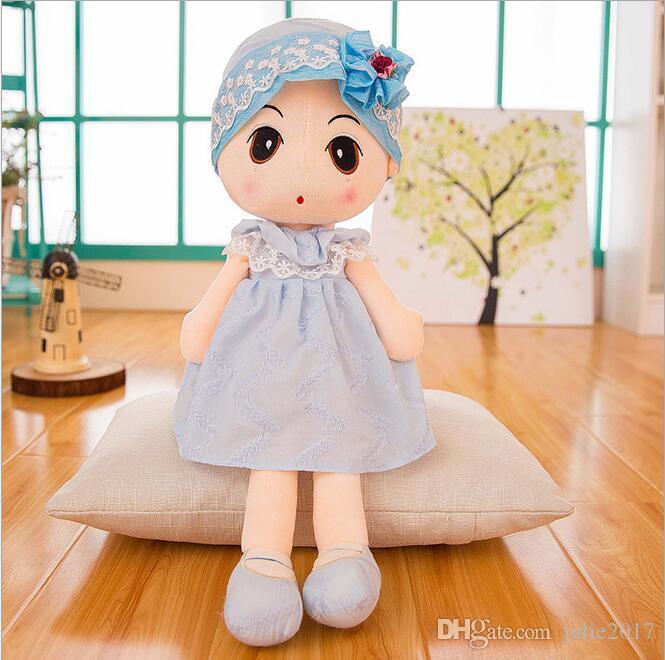 neue große 5 Farben gefüllte Puppe Plüschtier Schöne Puppen für Mädchen besten Geschenk für Kinder freies Verschiffen
