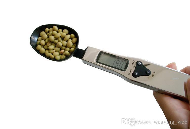 3 cores colher balança digital LCD farinha de leite óleo comestível escala de medição mini balança eletrônica pesador