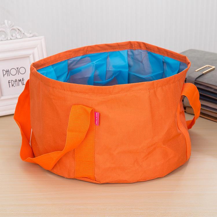 Портативный Оксфорд ткань путешествия умывальник открытый складной бассейн ведро чаша раковина стиральная мешок герметичный ведро воды 15 л
