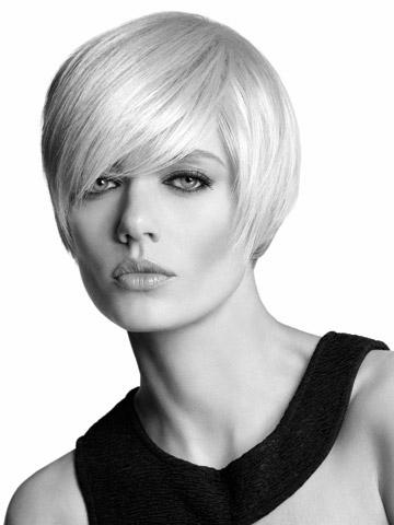 Xiu Zhi Mei Top quality silky straight short Bob Wigs High Grade Synthetic Hair Light Blonde Color Like Pictures Layered Wigs