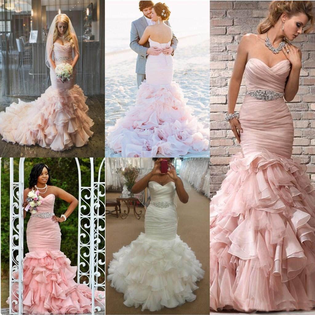 Blush Pink Beach Wedding Dress Saddha