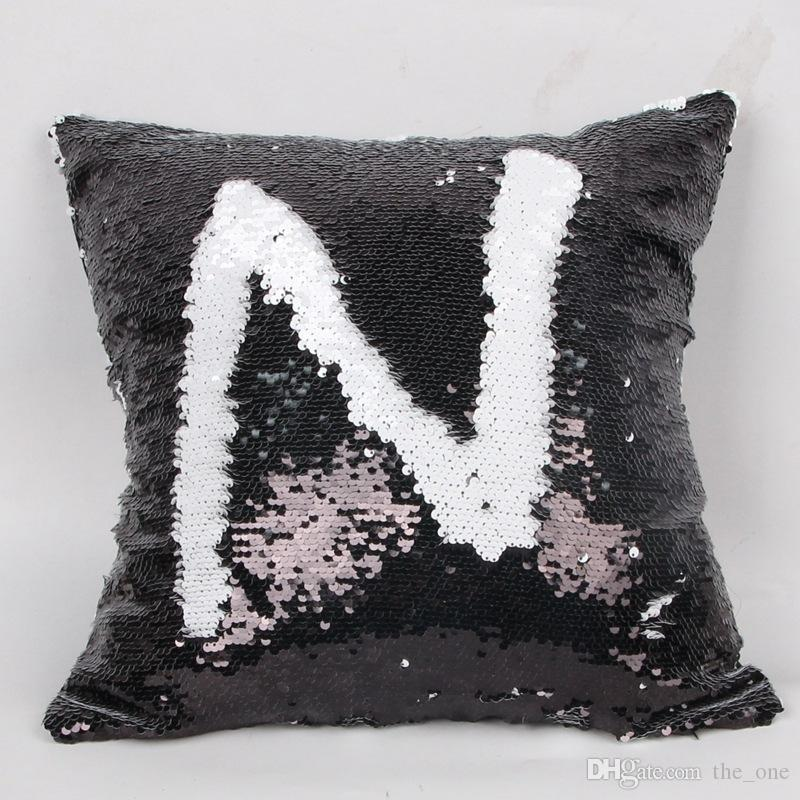 Paillettes Pillow Case 2 Tone Color Divano Perla Paillettes Federa reversibile Bagliore Iridescente Mesmerized Pillow Covers Decorativa la casa in magazzino