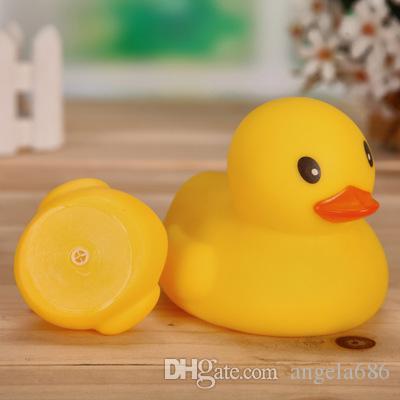 Оптовая мини резиновая утка ванна утка пвх со звуком плавающей утка 3 шт. / Лот Быстрая доставка бесплатно