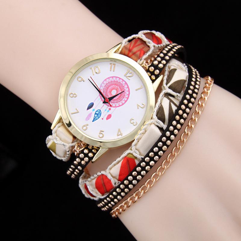 Платья женщин Часы кварцевые часы Женщины Золото Женева Дамы платье Золотой браслет наручные часы сплетенный браслет Роскошные Браслеты Часы